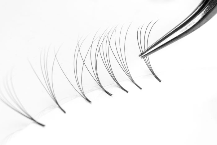 Set,Eyelash,Extension,Tools,White,Isolated,Background,4d