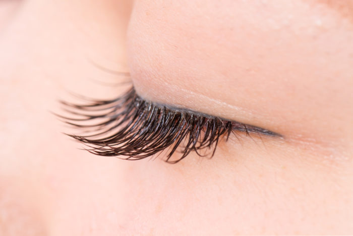 The,False,Eyelashes,Asian,Woman,Who,Is,In,Condition,To